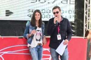 Cyndie Allemann Dennis van Bergen Moderator Supercars Rallye